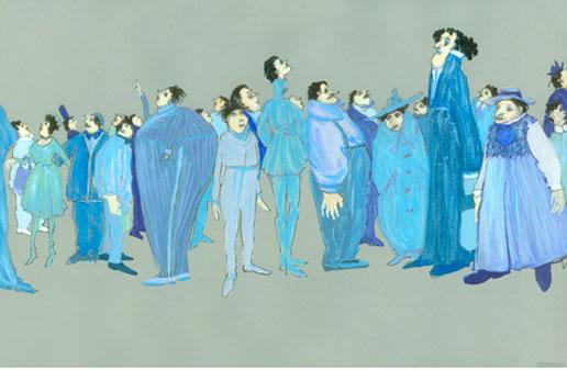 Quidam, 1996, dessin de Dominique Lemieux